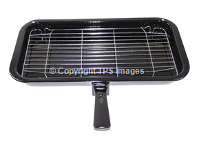 Large Grill Pan with Wire Rack and Grill Handle