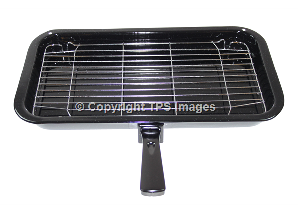Large Grill Pan with a Wire Rack and Grill Handle