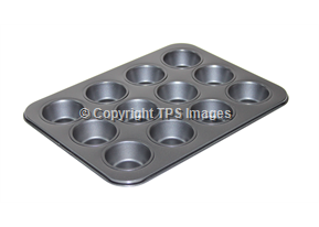 12 Cup Mini Muffin Tray with a Non-Stick Finish