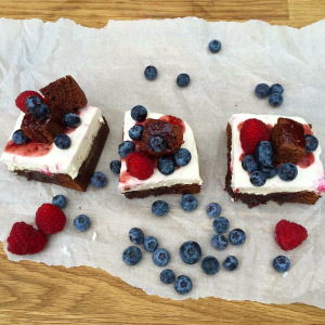 Brownie & Raspberry Cheesecake Squares