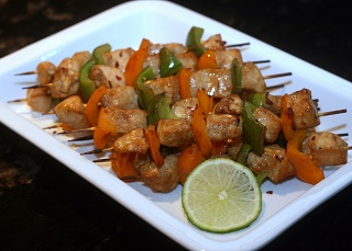 Grilled Lemon Chicken Kebabs